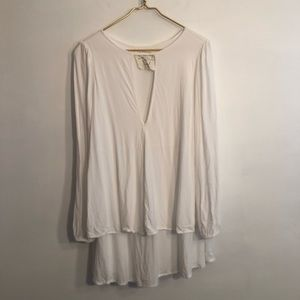 [Free People] White Long Sleeve Dress - Small
